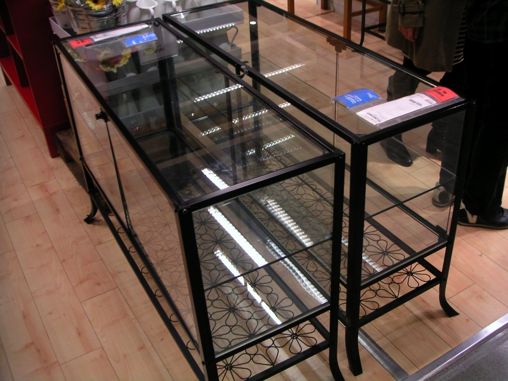glasvitrine ikea detolf glass door cabinet beech effect. Black Bedroom Furniture Sets. Home Design Ideas