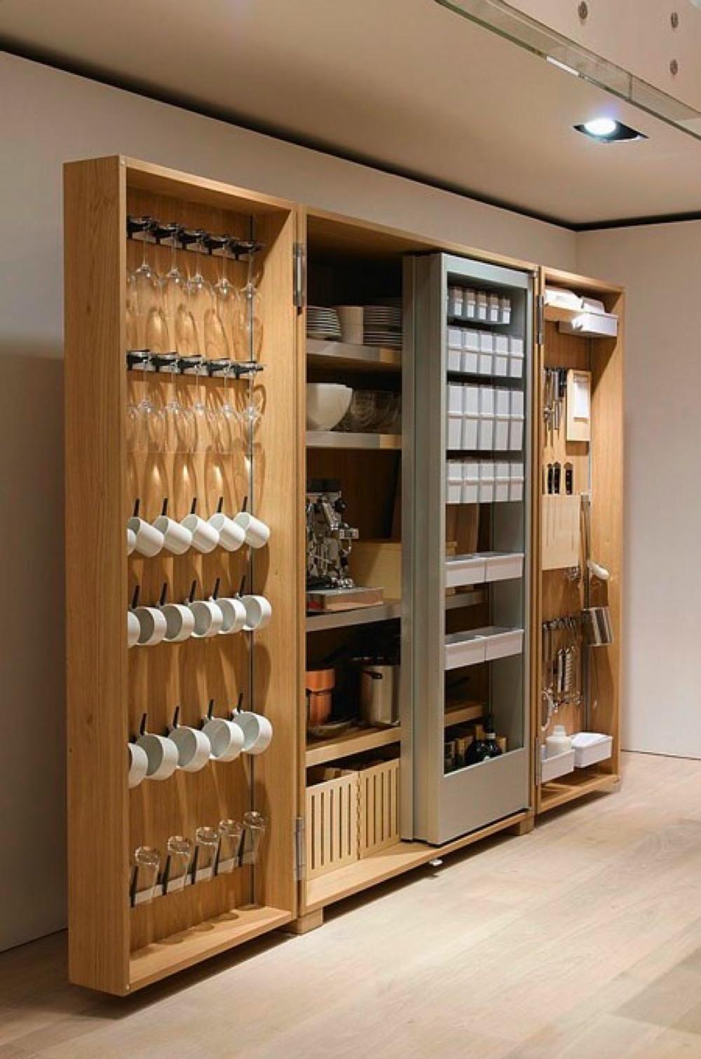キッチンのシステマチックな収納 | 住宅デザイン