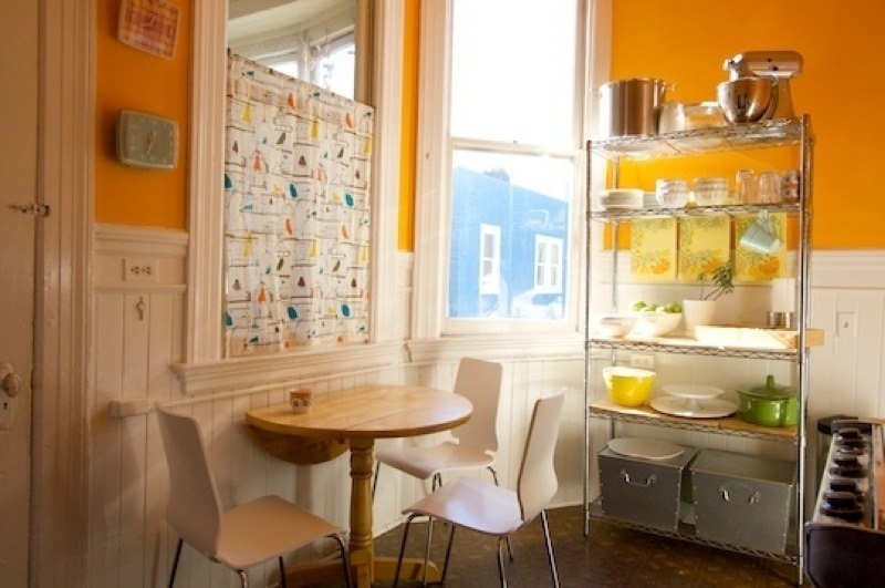 Pretty Bright Small Kitchen Color For Apartment