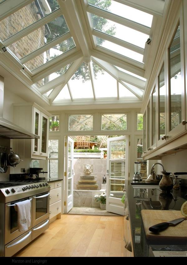 for Kitchen with sunroom attached