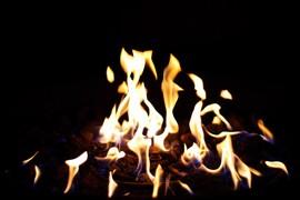 暖炉,焚き火台,炎