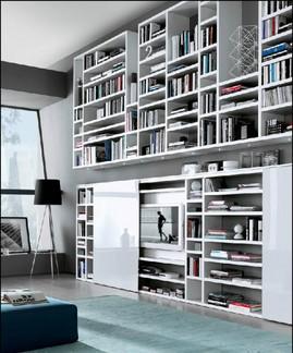 MisuraEmme,棚,本棚,作り付けの巨大本棚