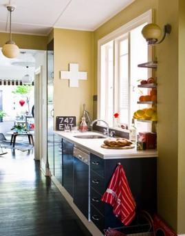 キッチン,カウンター,コーナー,作り付け,棚,収納