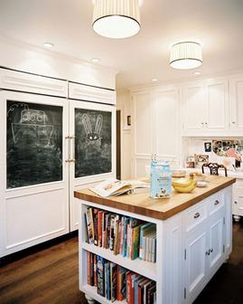 キッチン,カウンター,本棚