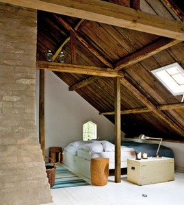屋根裏,ロフト,窓,天窓,山小屋風,寝室,ベッドルーム