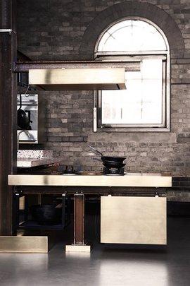 キッチン,カウンター,ダクト,真鍮,鉄製,Tom Dixon