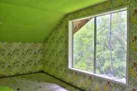 ロフト,窓,グリーン.緑,壁紙