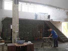 倉庫,リノベーション,住宅,ガレージ,工事,ペンキ,塗装,経過