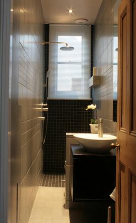 シャワールーム,洗面所,細長い,小さい,コンパクト