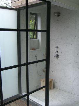 シャワールーム,ガラス,開放感