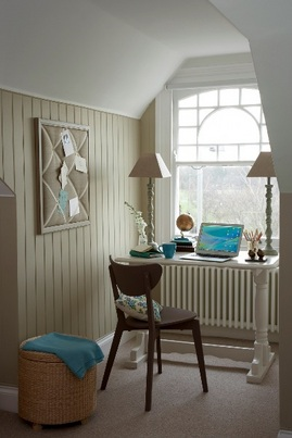 ワークスペース,書斎,小さな,隙間,ワークデスク,窓,雰囲気,オイルヒーター,包まれ感
