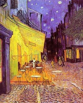 ゴッホ,夜のカフェテラス