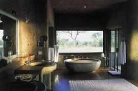 南アフリカのプレジデントスイートのバスルーム