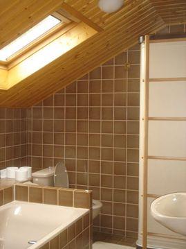 浴室と浴槽と天窓の関係