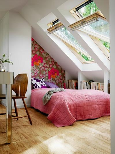 可愛らしいロフトのベッドルーム.jpg