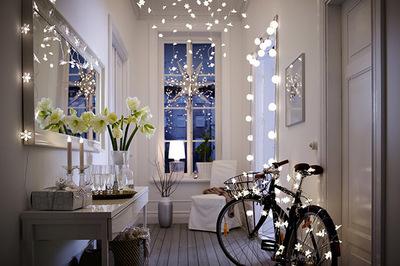 IKEAのライトでクリスマスデコレーション.jpg