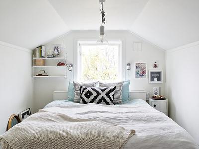 包まれ感があって落ち着けるコンパクトなロフトの寝室.jpg