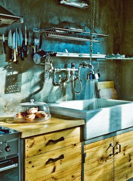 インダストリアルでビンテージなキッチン