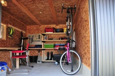 離れの多目的作業スペース兼収納小屋 浜松