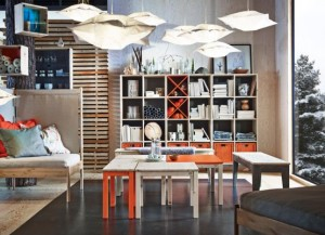 和紙と和風と日本の伝統色と北欧家具