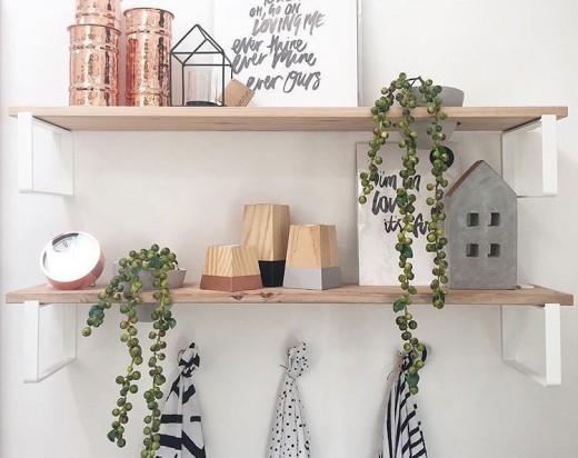 IVY MUSEの植物用壁面造作棚5 雑貨他