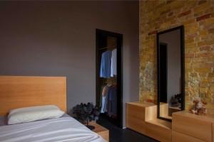 20坪の狭小住宅のベッドルーム