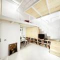 狭小ワンルームリノベーション住宅の収納&ワークスペース