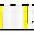 リノベーションでロフトを追加したワンルームマンションの平面図