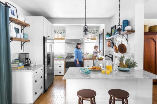 DIYでリノベーションしたキッチン2