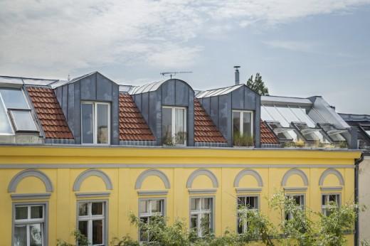 ペントハウスの外観・天窓