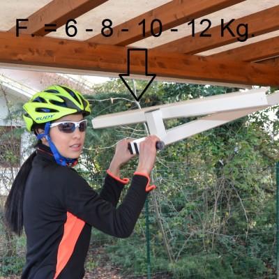 自転車駐輪用ラックflat-bike-liftは引き下げるのもラクラク
