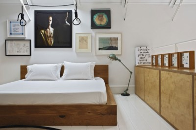 ロフトハウスの中二階のベッドルーム2
