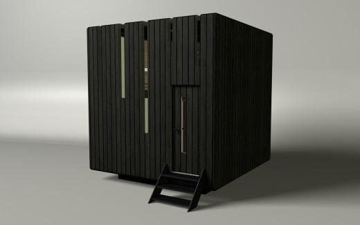 """箱型のコンパクトハウス""""Micro House"""""""