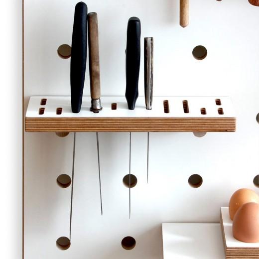 有孔ボードの壁面収納11 包丁やナイフ用のホルダ