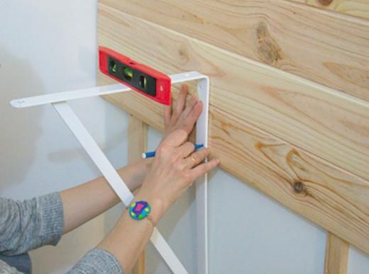 DIYで桟木に横板を取り付ける
