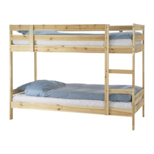 IKEAの木製2段ベッドフレームMYDAL