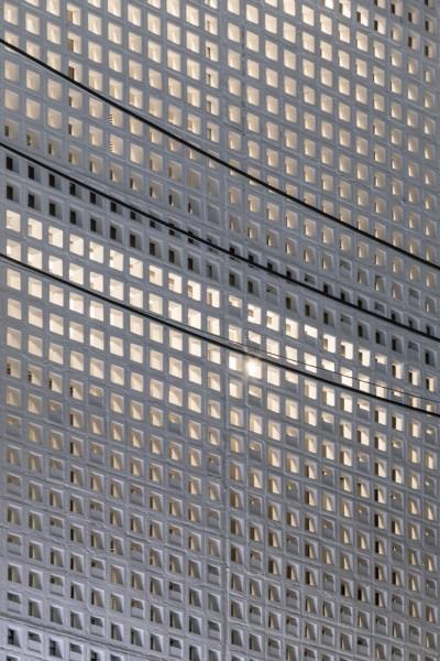 空間を自在に区切るコンクリート製の収納兼パーティションブロック「スクリーンブロック」1