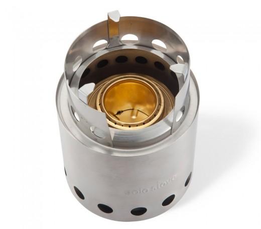 solo stove ソロストーブの内部にアルコールバーナーをセットしたところ