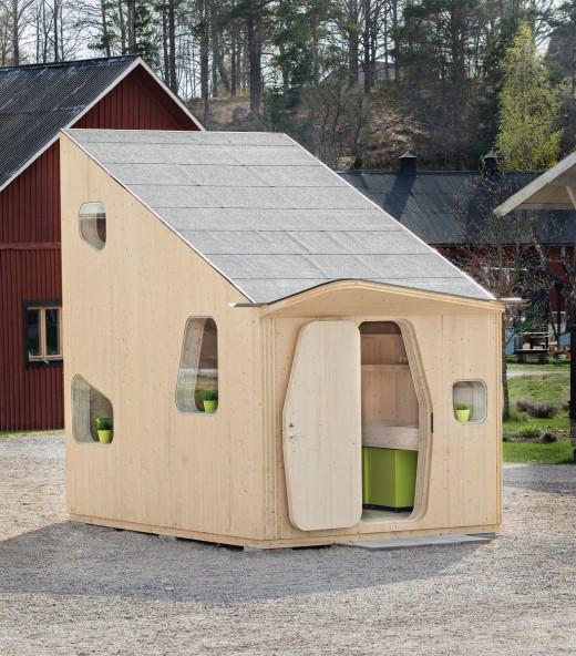 10平方mの木製ワンルームハウス
