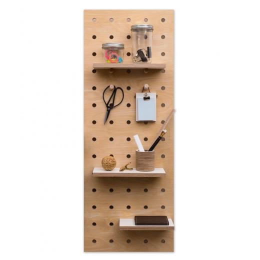 有孔ボードの壁面収納03 細長タイプ
