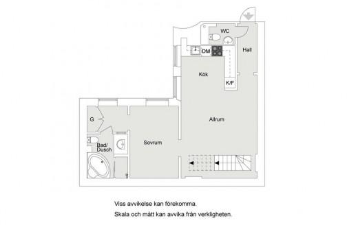 最上階のメゾネットハウスのバルコニーに作り込まれた屋外リビングスペースのある家の窓り図下の階