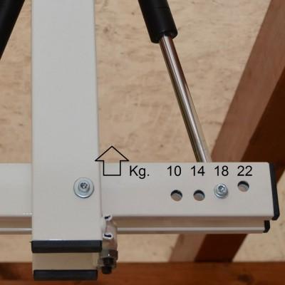 自転車駐輪用ラックflat-bike-lift ガススプリング付きで、引揚げをアシスト