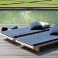 Sabi_slide2 低いデイベッド的な屋外家具 ウッドデッキのテラスに2つ並べて