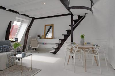 ロフト付きワンルームのロフトに上がる階段