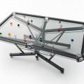 強化ガラスと特殊シートで出来た透明なビリヤード台1
