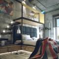 ベッドの上に浮かぶワークスペース