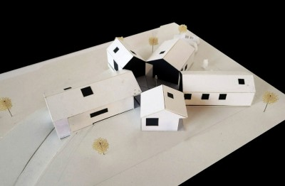 平屋を5軒星形に配置したデンマークの夏の家2