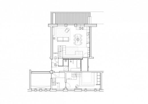 頭上にメゾネット的な中二階のロフトスペースが複数作り込まれたマンションの平面図