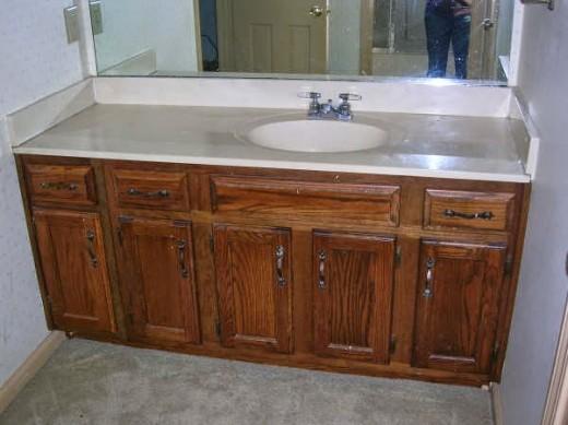 DIYでリノベーションした洗面所のリノベーション前