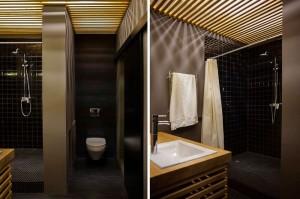 20坪の狭小住宅のバスルーム
